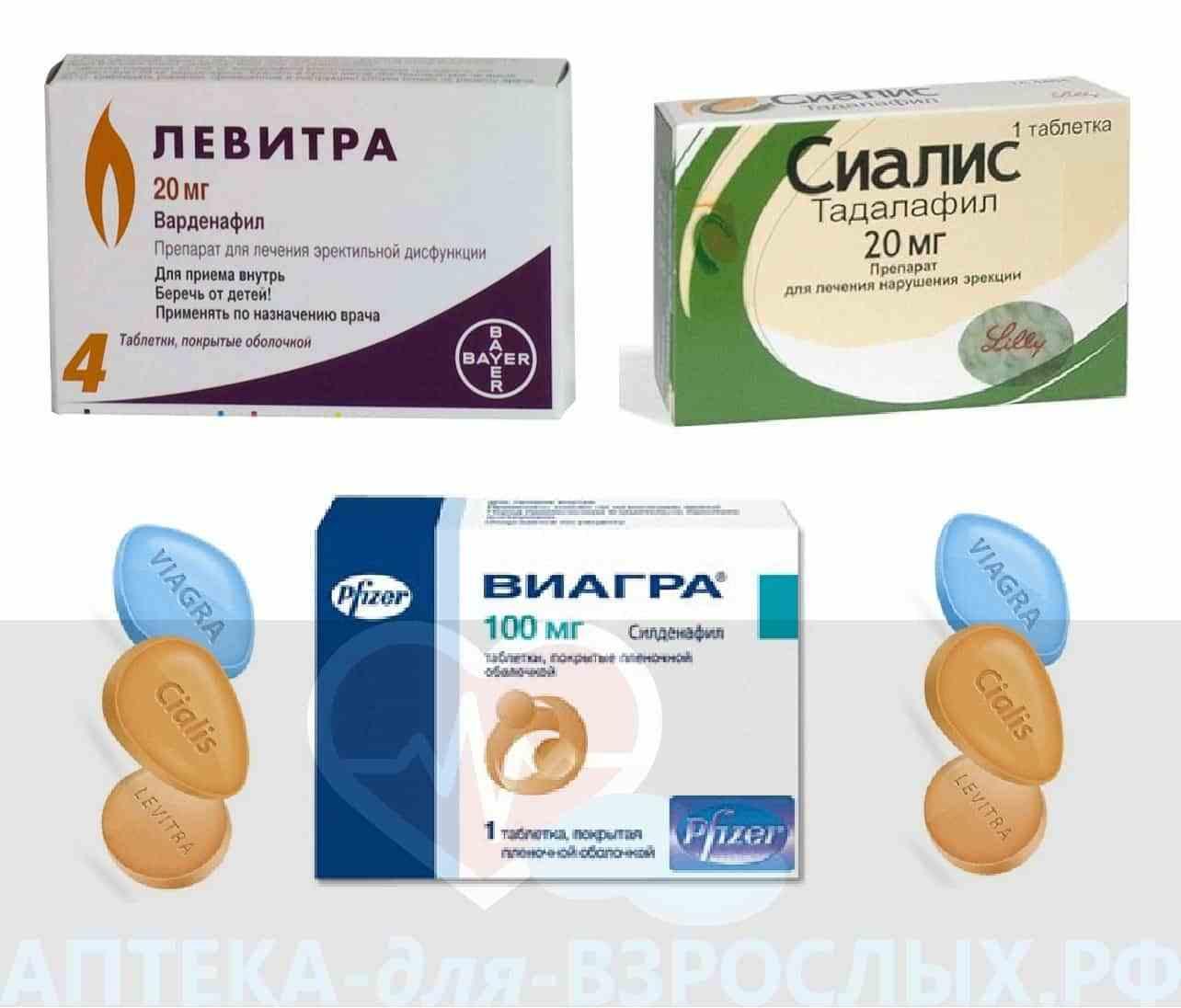Фото препаратов для повышения потенции