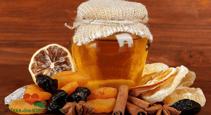 Народные средства мед, сухофрукты влияют на мужскую силу