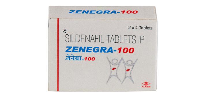 Таблетки Зенегра 100 мг
