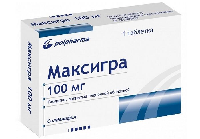 Таблетки Максигра 100 мг