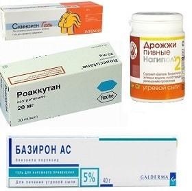 Фото препаратов против угревой сыпи