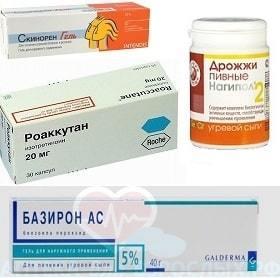 Фото препаратов против акне