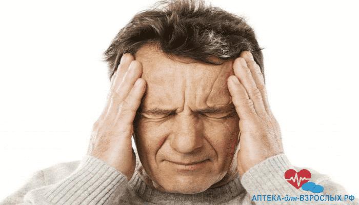 Болевые ощущения у мужчины из-за передозировки продуктом