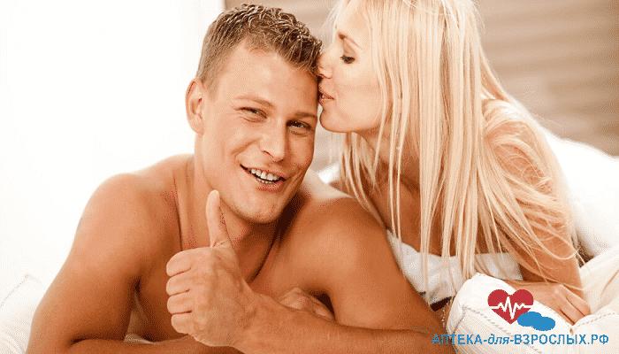Довольный потенцией мужчина с блондинкой под действием Визарсина
