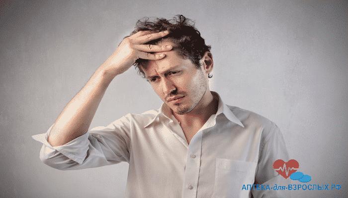 Мужчина плохо себя чувствует из-за неправильного использования препарата