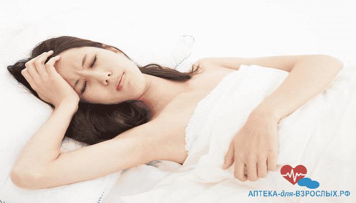 Недомогание у женщины из-за аллергии на компоненты препарата