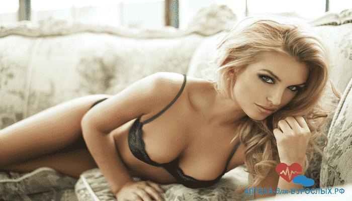 Сексуальная блондинка под действием Женской Виагры